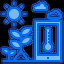 Plants Sun Temperature Icon