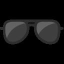 Sunglass Black Beach Icon