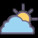 Sunny Sun Cloud Icon