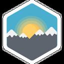 Sunrise Sun Mountain Icon