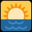 Sunrise Over Sea Icon