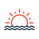 Sunset Seaside Sun Icon