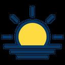 Sunset Sun Beach Icon