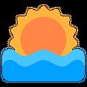Sunset Sunsets Sea Icon