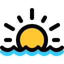 Sunset Sea Nature Icon