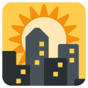 Sunset View Buildings Icon