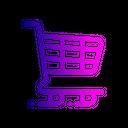 Supermarket Cart Shopping Icon