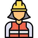 Supervisor Constructor Worker Icon