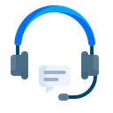 Headphone Customer Care Icon