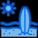 Surfboard Beach Vacation Icon