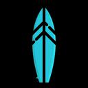 Surfing Board Summer Beach Icon