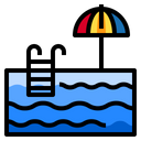 Pool Summer Vacation Icon