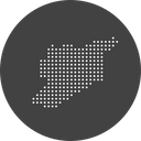Syria Country Map Icon
