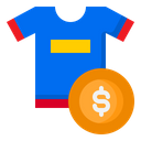 T Shirt Price Icon