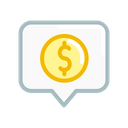 Tag Location Dollar Icon