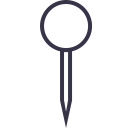 Tailor Pin Sew Icon