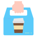 Take Away Delivery Restaurant Icon