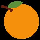 Tangerine Orange Fruit Icon