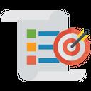Target Report Plan Target Infographic Icon