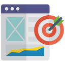 Target Website Objective Online Goal Icon