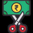 Tax Cut Tax Deduction Discount Icon
