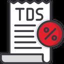 Tds Tax Bill Tax Receipt Icon
