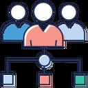 Team Employees Teamwork Icon