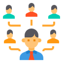 Human Resource Team Collaborate Icon