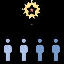 Competitive Contestant Teamwork Icon