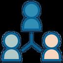 Teamwork Structure Marketing Icon