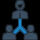 Building Relationship Teamwork Icon