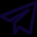 Telegram Plane Social Logo Social Media Icon