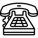 Telephone Call Communication Icon