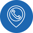 Telephone booth location Icon