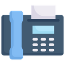 Telephone Fax Icon