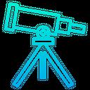 Telescope Binocular Astrobiology Research Icon