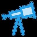 Telescope Binoculars Sea Icon