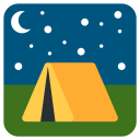Tent Campaign Travelling Icon
