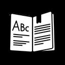 Textbook Abc Education Icon