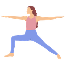 The Warrior 2 Virabhadrasana 2 Yoga Icon