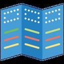 Three Fold Flyer Icon