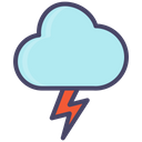 Thunder Lightning Weather Icon