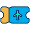 Flight Ticket Flight Pass Boarding Pass Icon