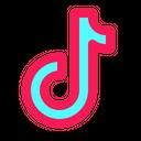 Tiktok Social Media Sharing Icon