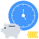 Time Is Money Financial Time Budget Icon