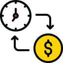 Time Management Sale Time For Money Exchange Time For Money Icon