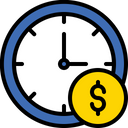 Time Is Money Time Management Business Hour Icon