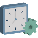Clock Settings Clock Schedule Icon