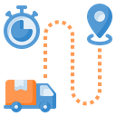 Time Tracking Time Tracker Truck Icon