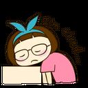 Tired Exhaust Weary Fatigue Miumiu Emoticon Expression Icon
